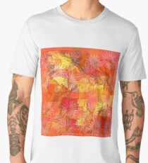 Abstract Shapes Over Daisies: Maps & Apps Series Men's Premium T-Shirt