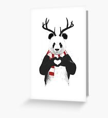Xmas panda Greeting Card
