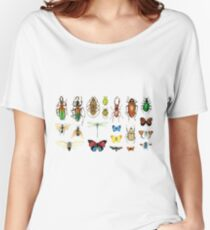 The Usual Suspects - Insects on grey Women's Relaxed Fit T-Shirt