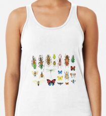 The Usual Suspects - Insects on grey - watercolour bugs pattern by Cecca Designs Women's Tank Top