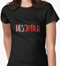 Disorder Typography Womens Fitted T-Shirt