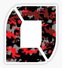 NoFlo Red Camo Sticker