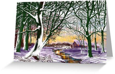 """Cottage at Twilight"" by Glenn  Marshall"