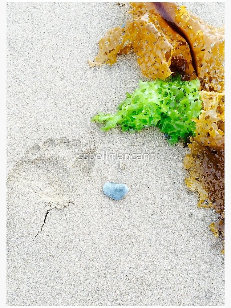 Footprint In The Sand by sspellmancann