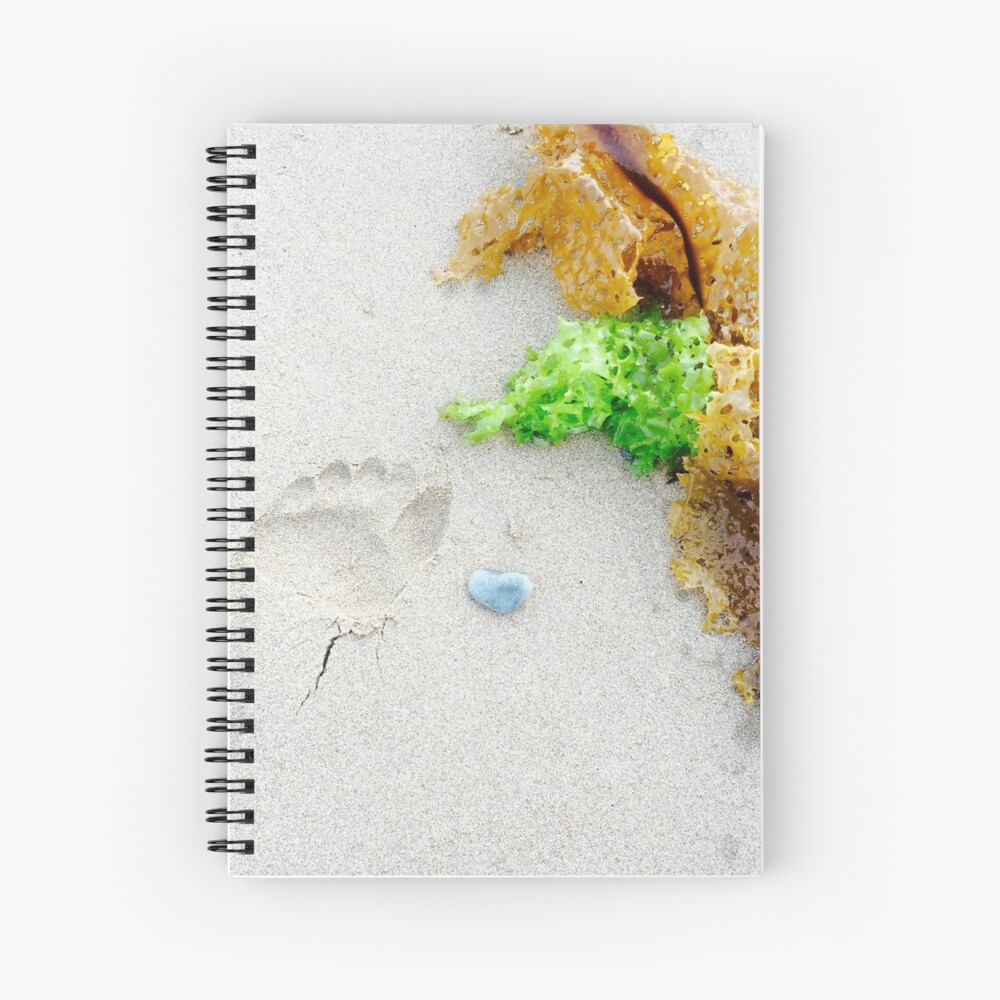 Footprint In The Sand Spiral Notebook