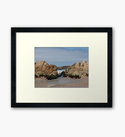 Clinton Rocks Framed Print