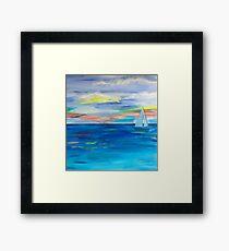 ,Nova Scotia Sea Framed Print