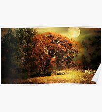 Full Moon Oak Poster