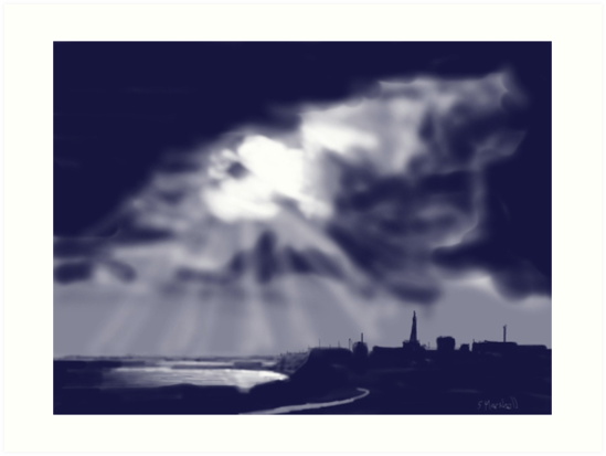 """Storm over Bridlington Bay"" by Glenn  Marshall"
