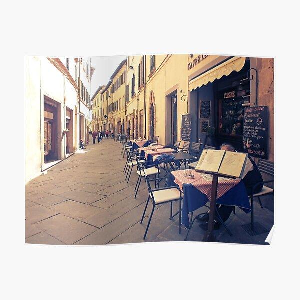 Tuscany. Italy. Cortona. Old city Poster
