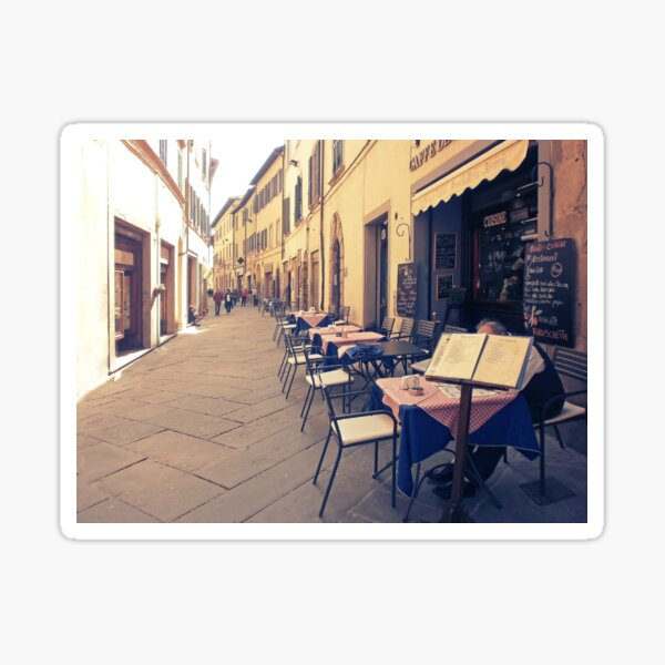 Tuscany. Italy. Cortona. Old city Sticker