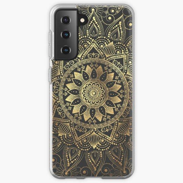Elegant gold mandala artwork Samsung Galaxy Soft Case