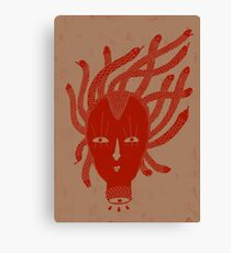 Red Medusa Canvas Print