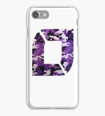 NoFlo Purple Camo - TopRight iPhone Case/Skin