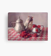 Snoozy in still life :) Canvas Print