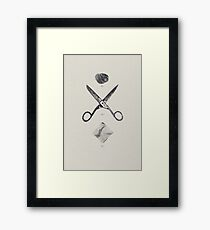 ROCK / SCISSORS / PAPER Framed Print