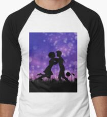 Couple silhouette on grass field 2 T-Shirt