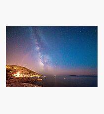 Milky way in the sky of Croatia Photographic Print