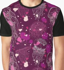 Vintage seamless pattern with collection of jellyfish Graphic T-Shirt