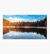 autumn sunrise at the alpine lake Photographic Print