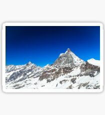 sunny day on the ski slopes of Cervinia Sticker