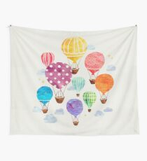 Hot Air Balloon Wall Tapestry