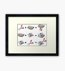 Rock, Paper, Scissors Framed Print