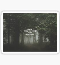 trees - twenty one pilots Sticker