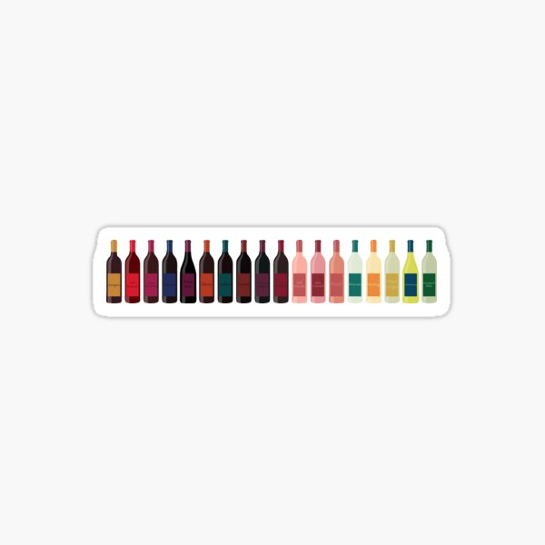 Wine Bottles Sticker