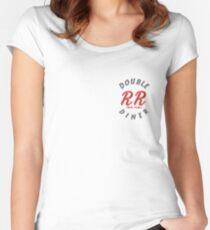 Double R Diner Twin Peaks (logo) Women's Fitted Scoop T-Shirt