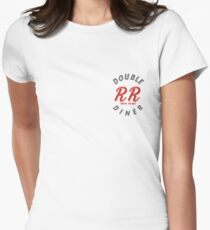 Double R Diner Twin Peaks (logo) Womens Fitted T-Shirt