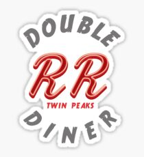Double R Diner Twin Peaks (logo) Sticker