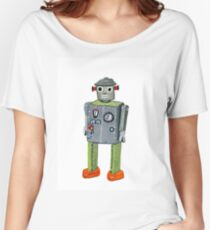 Retro Tin Robot No. 2 Women's Relaxed Fit T-Shirt