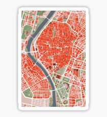 Seville city map classic Sticker