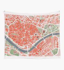 Sevilla Stadtplan Klassiker Wandbehang
