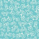 Bikes in a blue turquoise background by MartaMunte