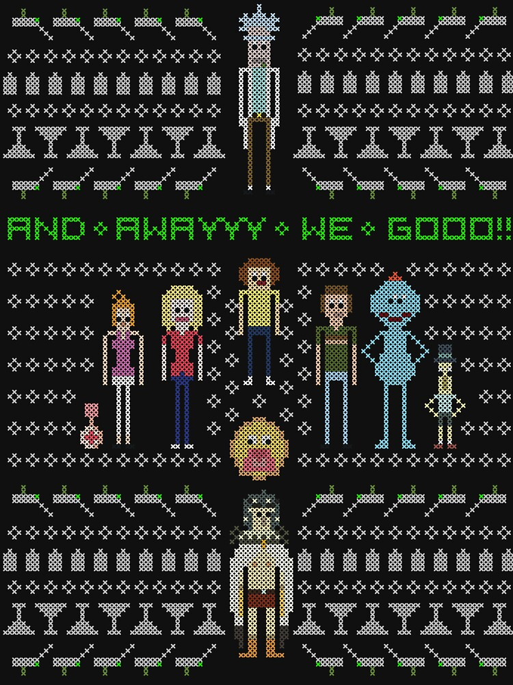 Rick and Morty Family Portrait by sleepydolphin