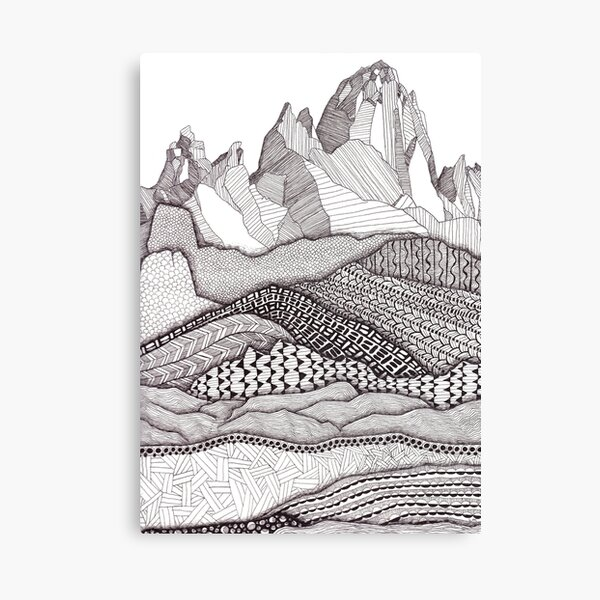 Patterns on Patagonia Canvas Print