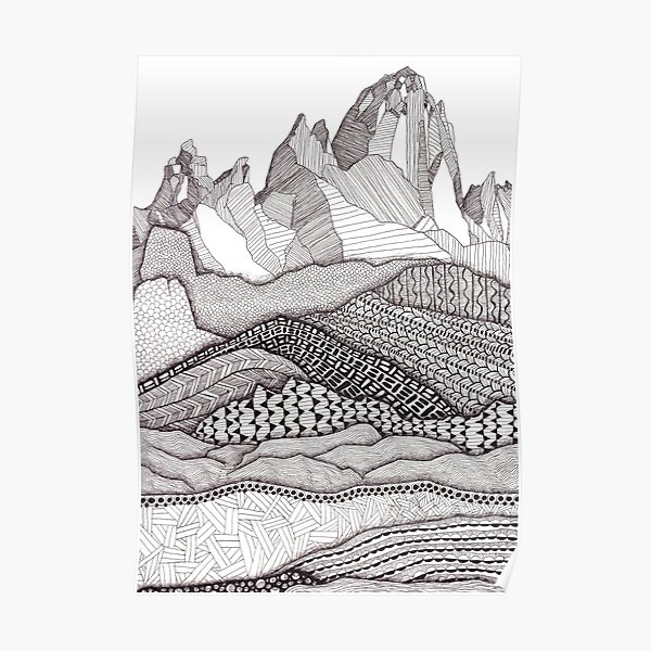 Patterns on Patagonia Poster