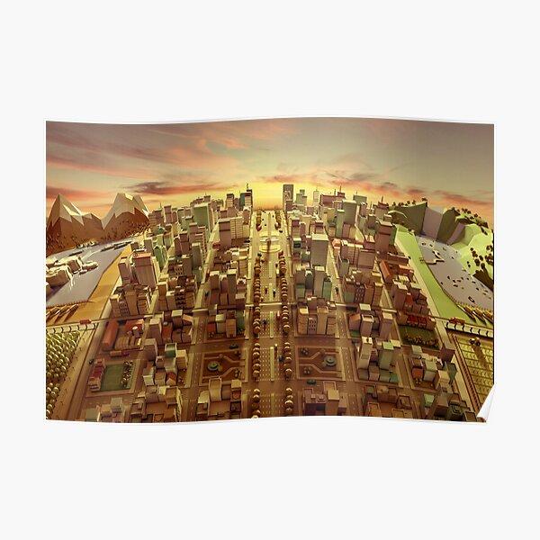 Modelo 3D City de Argentina Póster