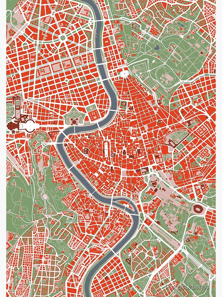 Rome city map classic   Spiral Notebook