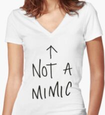 Not a mimic Women's Fitted V-Neck T-Shirt