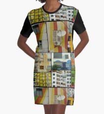 Tirana Collage Graphic T-Shirt Dress