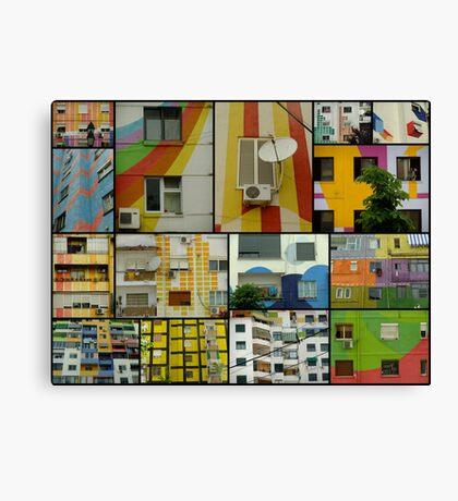 Tirana Collage Canvas Print