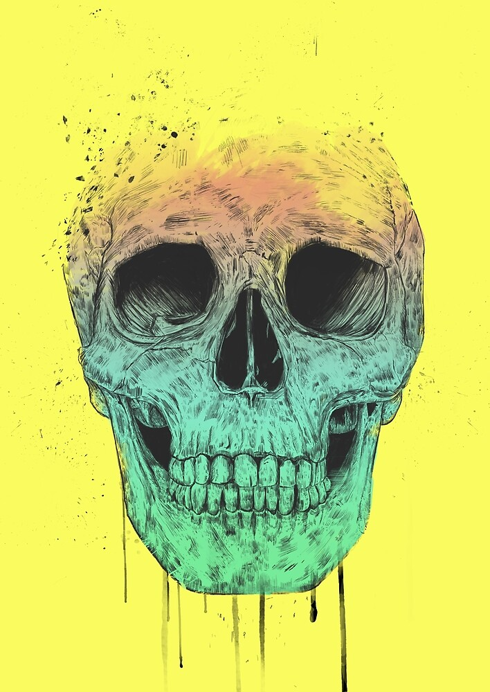 Pop art skull by soltib