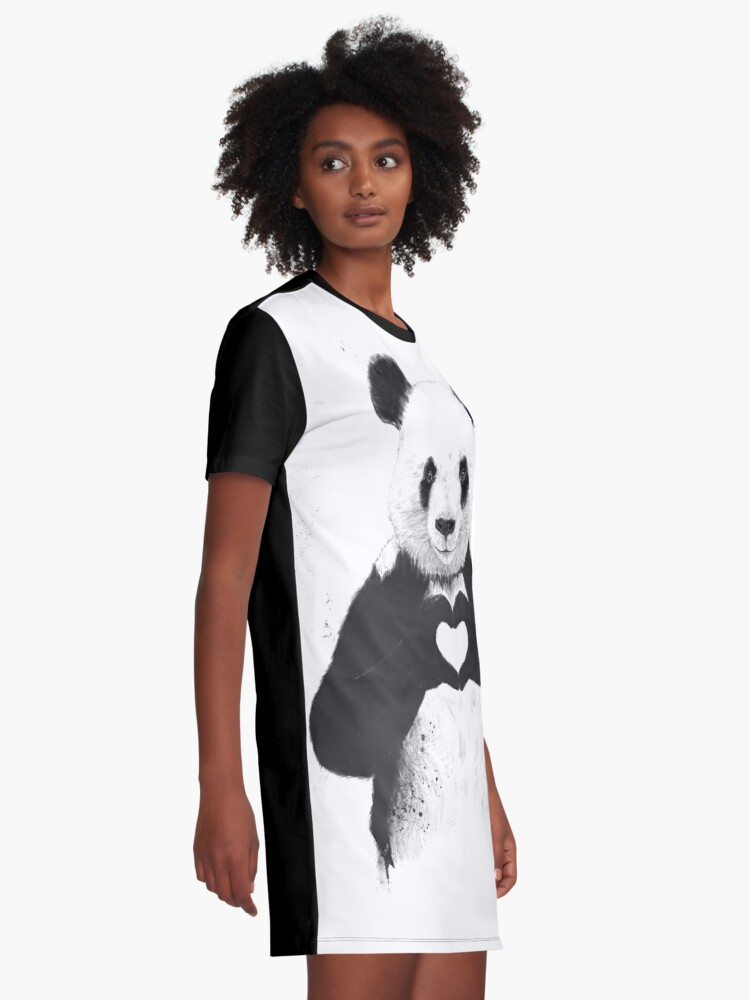 Alternate view of All you need is love Graphic T-Shirt Dress