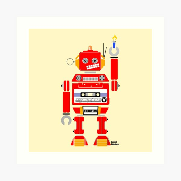80's Mix Tape Robot - Danny Art Print