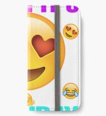 Emoji Birthday Shirt IPhone Wallet Case Skin