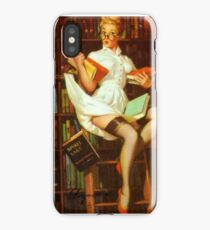 Gil Elvgren Pin Up Librarian iPhone Case/Skin