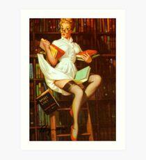 Gil Elvgren Pin Up Librarian Art Print